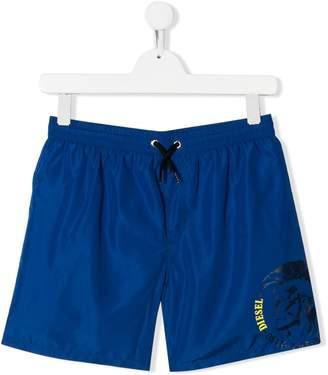 Diesel TEEN printed swimming trunks