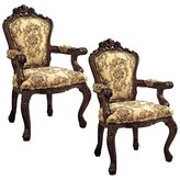 Toscano Carved Armchair Design