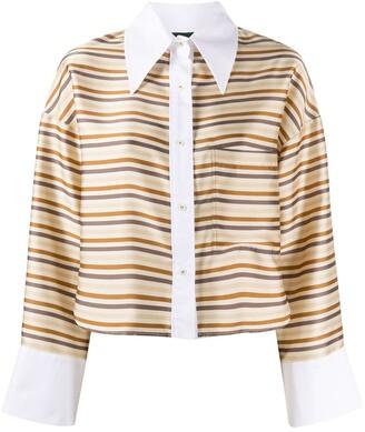 Jejia Striped Button-Down Shirt