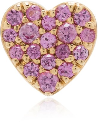 Loquet 18K yellow gold Heart sapphire charm
