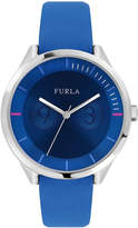 Furla 31mm Metropolis Leather Watch, Blue