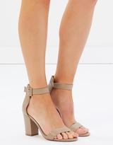Lisa Leather Block Heels