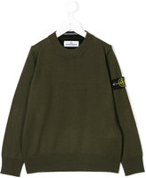 Stone Island Junior logo plaque jumper