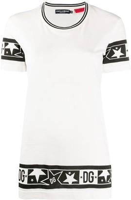 Dolce & Gabbana logo border T-shirt