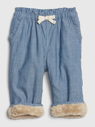 Gap Baby Sherpa Lined Pull-On Pants