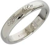 Tiffany & Co. Logo Platinum Wedding Band Ring Size 4