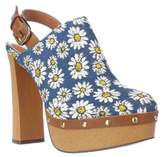 Report Mylie Toe Back Strap Mules, Blue.