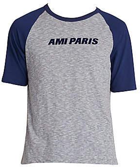 Ami Paris Men's Short-Sleeve Logo Baseball Tee