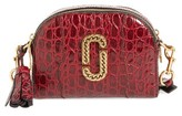Marc Jacobs Small Shutter Leather Crossbody Bag - Burgundy