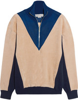 Stella McCartney Color-block Fleece, Jersey And Mesh Sweater - Ivory