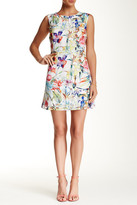 Lavand Floral Grid Sleeveless A-Line Dress