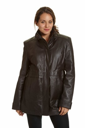 Excelled Leather Excelled Women's Leather Multi Pocket Anorak