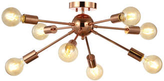 "Jonathan Y Designs Copper 30.5"" 8-Light Sputnik Metal LED Flush-Mount, Copper"