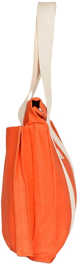Thumbnail for your product : LaneFortyfive - The Basto Tote Bag - Orange Waxed Canvas