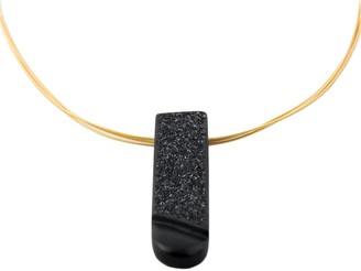 Alistair R Black Onyx & 18 Carat Gold Necklace