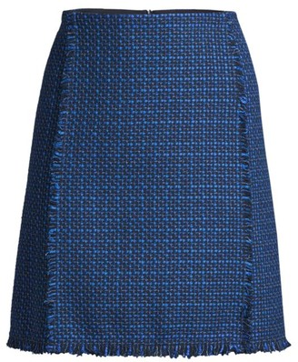 BOSS Vomanda Fringe Tweed Skirt
