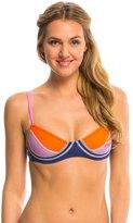 Cynthia Rowley Women's Color Block Sports Bra Bikini Top 8137638