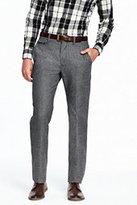 Lands' End Men's Slim Fit Trouser Pants-Black/White