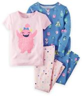 Carter's 4-Piece Glow-in-the-Dark Monsters Pajama Set