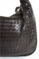 Bottega Veneta Brown Intrecciato Leather Gold Tone Hobo Handbag RHB5/6