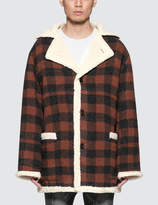 Stampd Court Plaid Shearling Coat