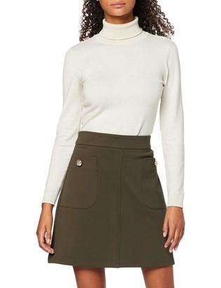 Dorothy Perkins Women's Khaki Btn Pocket Min Skirt