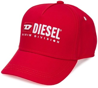 Diesel embroidered baseball cap