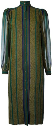 Jean Louis Scherrer Pre Owned Striped Shirt Dress