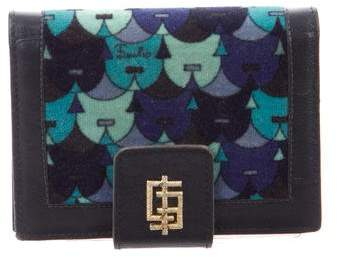 Emilio Pucci Printed Leather-Trimmed Wallet