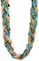 Natasha Accessories Braided Beaded Necklace