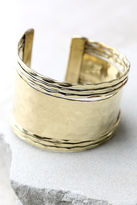 LuLu*s Get What You Give Gold Cuff Bracelet