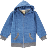 Smiths American Heather Denim Blue Geo Quilted Zip-Up Hoodie - Toddler & Boys