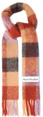 Acne Studios Vally Checked Scarf - Brown