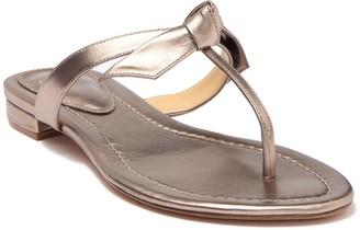 Alexandre Birman T-Strap Leather Thong Sandal