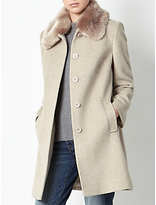 John Lewis Jenny Faux Fur Collar Coat