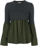 Kenzo ribbed knit contrast shirt
