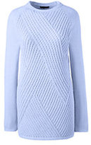 Classic Women's Ribbed Tunic Sweater-Soft Sky Blue