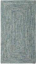 Capel Area Rug, Indoor/Outdoor Sea Glass Rectangular Braid 0110-400 Ocean 5' x 8'