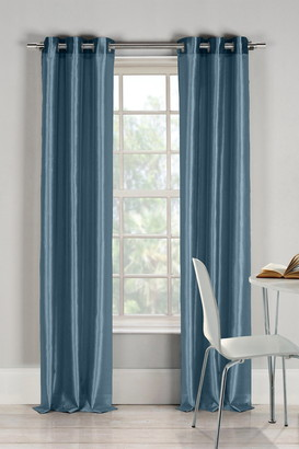 Duck River Textile Bali Faux Silk Grommet Panel Curtains - Set of 2 - Peacock Blue