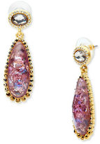 lonna & lilly Abalone and Glass Studded Teardrop Earrings