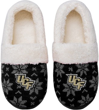 Women's UCF Knights Ugly Knit Moccasin Slippers