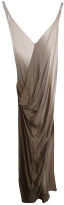 Donna Karan Beige Silk Dress for Women