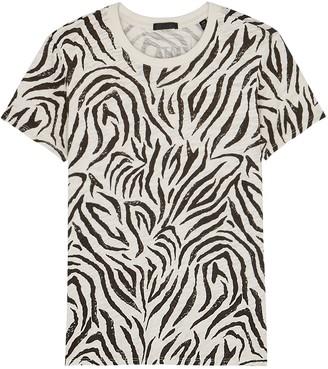 ATM Anthony Thomas Melillo Schoolboy Zebra-print Slubbed Cotton T-shirt