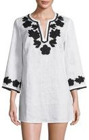 Tory Burch Floral Applique Tunic