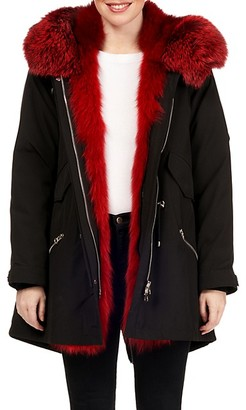 Gorski Quilted Down-Filled Fox Fur-Trim Hooded Parka