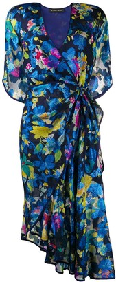 Etro Floral-Print Wrap-Style Dress