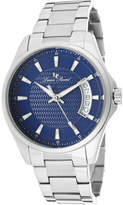Lucien Piccard Men's 98660-33 - Stainless Steel/Blue Textured Analog Watches