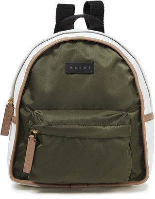 Marni Faux Leather-trimmed Shell Backpack