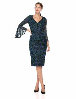 Carmen Marc Valvo Women's V Front COKTAIL Dress