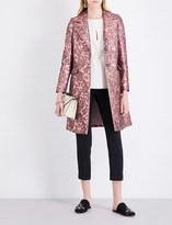 Etro Metallic jacquard wool coat